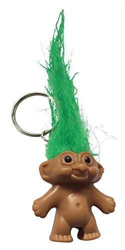 Troll-Portachiavi con capelli verde