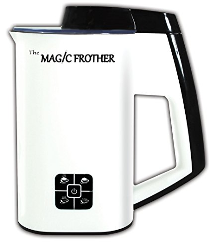 The Magic Frother - Premier Deluxe Automatic Electric Milk Frother and Heater Carafe for Coffee, Cappuccino, Latte, Hot Chocolate, Hot and Cold Froth or Heat only, Soft Touch Buttons (Hot Top Coffee Roaster Filter compare prices)
