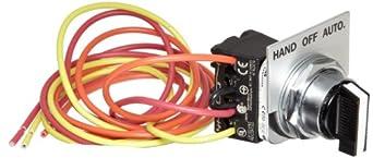 Siemens 49SAS01 Pilot Device, Hand-Off-Auto Selector Switch, 14, 17, 18, 36, 37, 40, 83, 84, LEN, CLM, LED,LEF, LEB, CMN, CMF, CMB Class, 1, 12, 4/4X Enclosure Type, 0-8 (20-400A) Controller Size