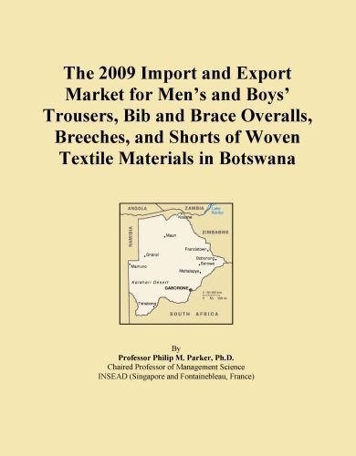 The 2009 Import and Export Market for Men's and