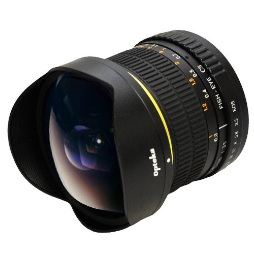 Opteka 6.5mm f/3.5 Manual Focus Aspherical Fisheye Lens for Canon EOS 1D, 5D, 7D, 10D, 20D, 30D, 40D, 50D, 60D, 300D, 350D, 400D, 450D, 500D, 550D, 600D, 1000D  &  1100D Digital SLR Cameras (New Version)