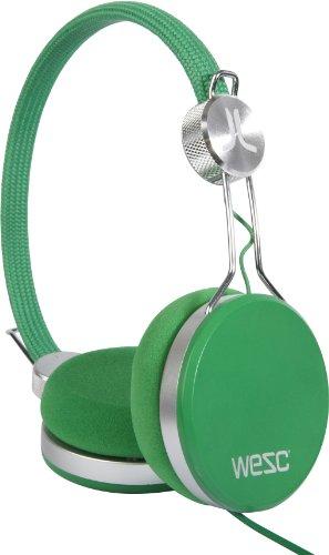 wesc-banjo-blanery-green-onear-kopfhorer-inkl-hands-free-unit-adapter-fur-sony-ericsson-nokia-grun