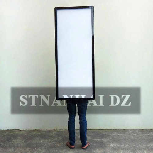 Stnanhai Super Deals Fashion Design,Indoor/Outdoor Indoor Led Displays Display,Backlit Aluminum Frame Battery Operated With Battery Keep Working 6-14 Hours For Choice