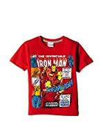 Marvel Camiseta Manga Corta Invincible (Rojo)