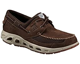 Columbia Men\'s Boatdrainer II PFG Casual Boat Shoes, Brown Leather, 10 M