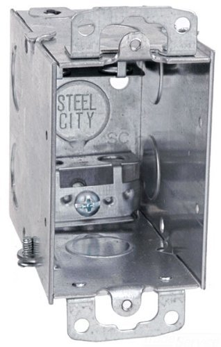 Steel City Cx Switch Box, Gangable, Old Work, Welded Construction, 1 Gang, 3-Inch Length By 2-Inch Width By 3-1/2-Inch Depth, Galvanized, 25-Pack