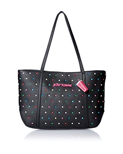 Betsey Johnson Women's Candy Dots Tote, Black