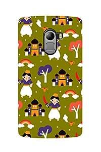 ZAPCASE PRINTED BACK COVER FOR Lenovo K4 Note - Multicolor