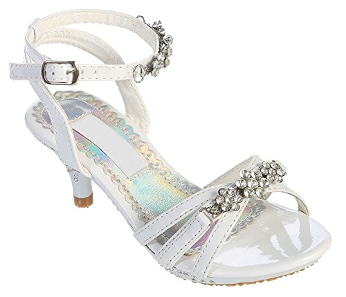 Toddler Girl White Sandals front-1053078