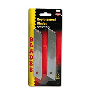 Cosco Snap Blade Utility Knife Replacement Blades, 10 per Pack (091471)
