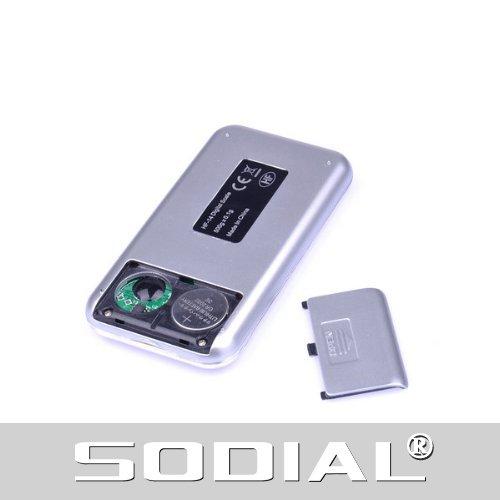 SODIAL(R) Mini balance digitale šŠlectronique Couleur argent 500gx0.1g En forme de