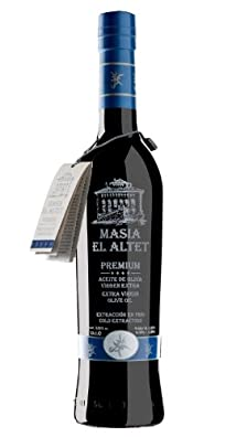 Masia el Altet Premium- Award Winning Cold Pressed EVOO Extra Virgin Olive Oil, Harvest 2013-2014  17-Ounce Glass Bottle