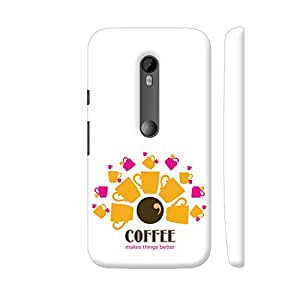 Colorpur Coffee Makes Things Better Designer Mobile Phone Case Back Cover For Motorola Moto G Turbo Edition | Artist: Sukhada Apte