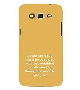 EPICCASE possible love Mobile Back Case Cover For Samsung Galaxy Grand (Designer Case)