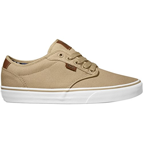 Vans Men's Atwood Deluxe Skate Shoes, White/Tan, 8.0 vik max factory outlet white figure skate shoes two size left ice skate shoes cheap figure skate shoes