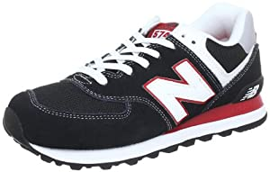New Balance ML574 D (13H) 313781-60, Herren Sneaker, Schwarz (KRW BLACK/RED 8), EU 45 (US 11)