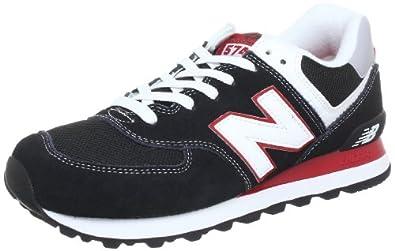 New Balance ML574 D (13H) 313781-60, Herren Sneaker, Schwarz (KRW BLACK/RED 8), EU 41.5 (US 8)