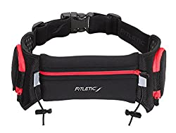 Fitletic Quench Retractable Hydration Belt, Black/Red, Large/X-Large