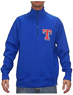 MLB TEXAS RANGERS Mens 1/4 Zip Pullover Thermal Sweatshirt