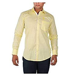 Relish Shirts Men's Casual Shirts (bazcasuB2_Light Yellow_Large)