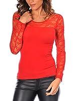 Anouska Camiseta Manga Larga Denise (Rojo)
