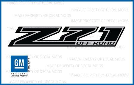 Chevy Silverado Z71 Offroad Truck Black Blackout Stickers Decals *New* - Fblk (2014) Bedside (Set Of 2)