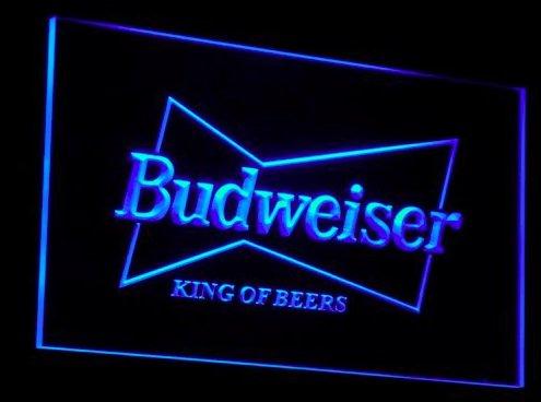 budweiser-led-segno-pubblicita-neon-scudo-blu