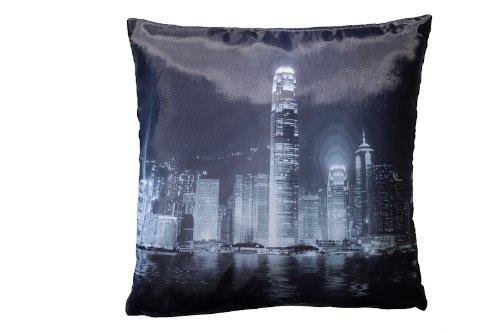 Deko/Metropolen/Sehenswürdigkeiten Kissen Hong Kong/Kissen mit Füllung/Gr.40x40cm