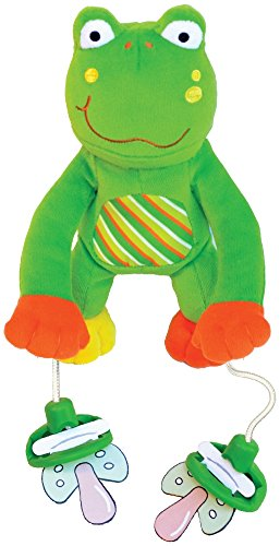 "The Original PullyPalz Pacifier Holder ""As Seen on Shark Tank!"" Puddles the Frog - 1"
