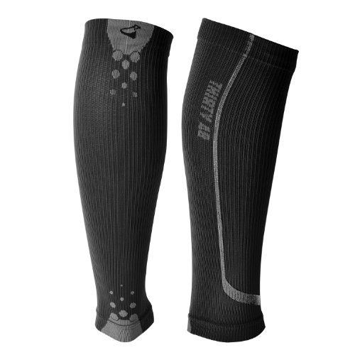 "Thirty48 – ""The Sock Geeks"", Cp Series Calf/Shin Splint Compression Sleeves-Sock 1 Pair, Maximize Recovery by Increasing Oxygen to Muscles, Catalyst AF Design Creates Airflow, Retail Packaging"