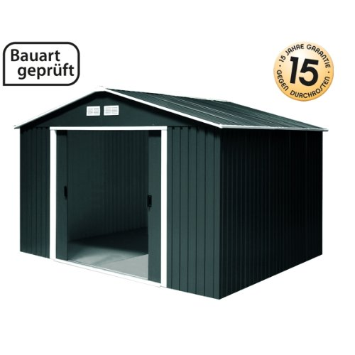 tepro gartenhaus metallger tehaus titan 8x8 anthrazit. Black Bedroom Furniture Sets. Home Design Ideas