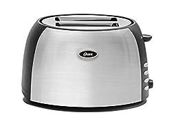 Oster TSSTJC5BBK 800-Watt 2-Slice Pop-up Toaster (Black/Steel Finish)