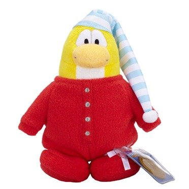Buy Low Price Jakks Pacific Disney Club Penguin 6.5 Inch Series 10 Plush Figure Red Pajama Version 3 Includes Coin with Code! (B004D6O760)