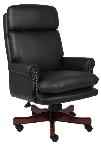 boss-office-products-b850-bk-traditional-back-executive-chair-with-mahogany-finish-in-black