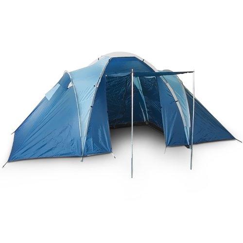 Tenda da campeggio per 4 persone 130 + 190 + 130 x 210 x 185 cm tenda famigliare vacanza viaggio camping