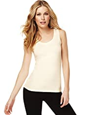 Fairtrade Cotton Rich Scoop Neck Vest with Stay New™