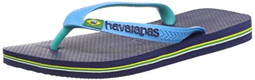 Havaianas Marine Blue/Turquoise Brasil Mix Flip Flops - 43/44 EU (41/42 BR)