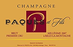 2007 Champagne Paques et Fils: Champagne Carte Rouge 750 mL Wine