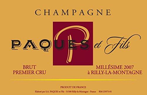 2007 Champagne Paques Et Fils: Champagne Carte Rouge 750 Ml