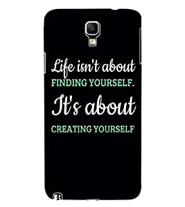 ColourCraft Quote Design Back Case Cover for SAMSUNG GALAXY NOTE 3 NEO DUOS N7502