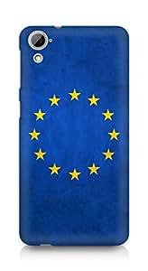 AMEZ European union flag stars europe texture Back Cover For HTC Desrie 826