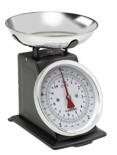 Hanson balance culinaire traditionnelle avec bol en inox noir 5 kg
