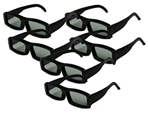 Universal Passive 3D Glasses - 6 PAIRS - OVERSIZE - to fit over prescription glasses - Work with passive 3D TVs LG, Vizio, Mitsubishi, Toshiba and Philip's