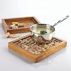Wine Enthusiast Cork Trivet Kit - Maple