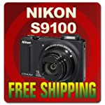 Nikon COOLPIX S9100 12.1 MP CMOS Digital Camera with 18x NIKKOR ED Wide-Angle Optical Zoom Lens and Full HD 1080p Video (Black)