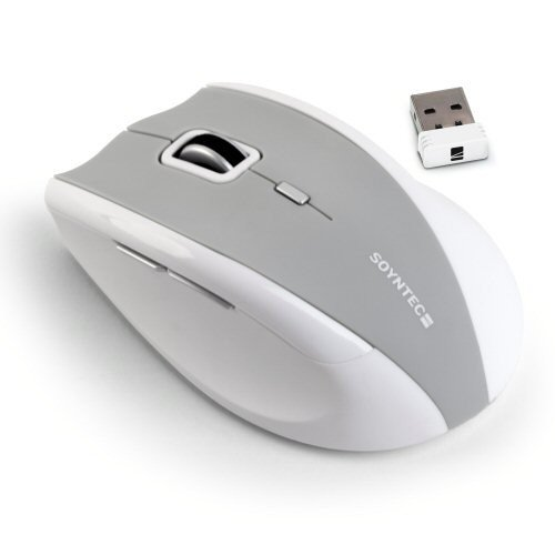 Soyntec® Mouse InpputTM R520 Arctic White cordless with integrated nano receiver (2,4 GHz: 10 m).