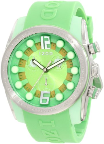 IZOD Men's IZS2/5 GREEN/YELLOW Sport Quartz Chronograph Watch