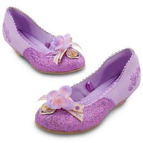 Disney Store Princess Rapunzel Deluxe Costume Slippers