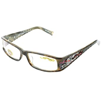 ed hardy eho 723 designer eyeglasses brown