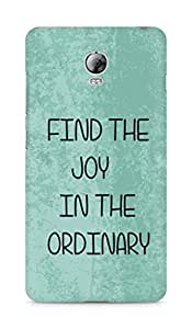 AMEZ find the joy in the ordinary Back Cover For Lenovo Vibe P1